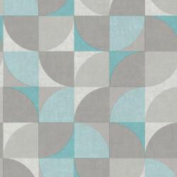 Papier peint à motif Hélice bleu - INSPIRATION WALL - GRANDECO