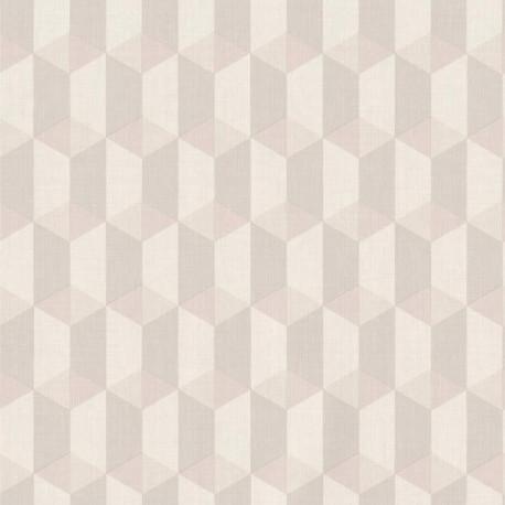 Papier peint à motif Cubes beige gris - Collection INSPIRATION WALL - GRANDECO