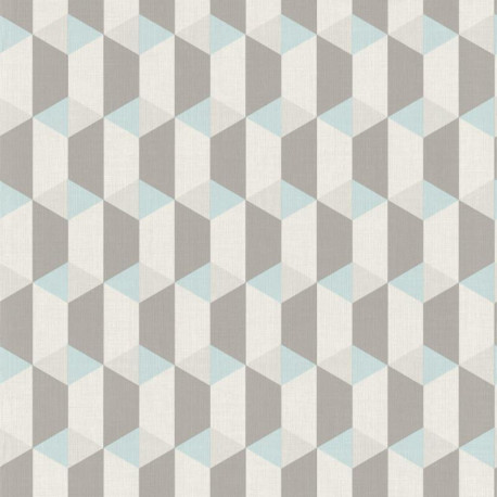 Papier peint à motif Cubes bleus - Collection INSPIRATION WALL - GRANDECO