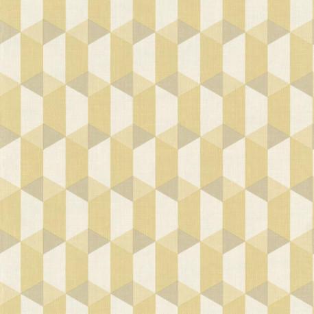 Papier peint à motif Cubes bambou - Collection INSPIRATION WALL - GRANDECO