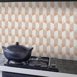 Papier peint à motif Cubes orange - Collection INSPIRATION WALL - GRANDECO