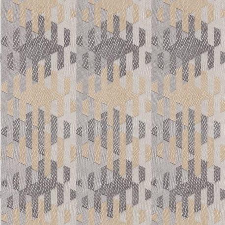Papier peint Yana taupe et noir - NOVA - Casadeco - NOVA84161403