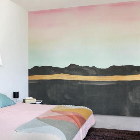 Panoramique Aurore Trompe l'œil terre brulée multicouleurs - Collection IDYLLE - CASADECO
