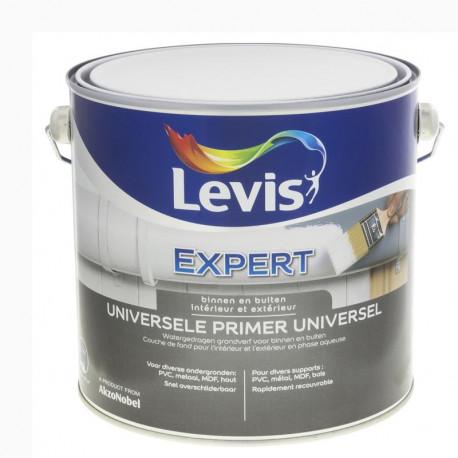 """Peinture Primer """"EXPERT"""" Universel blanc  - 2,5L - LEVIS"""