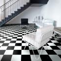 Revêtement PVC - Largeur 4m - TextStyle Modena 901D damier noir et blanc - Beauflor