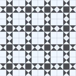 Revêtement PVC - Largeur 2m - Hightex Devon 009S noir et blanc - Beauflor