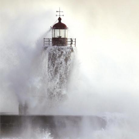 Panoramique intissé phare de Felgueiras gris - Collection RIVAGE- CASADECO