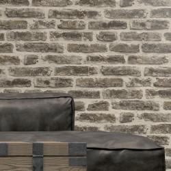 Papier peint réaliste Mur de Briques grises -UGEPA