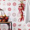 Papier peint intissé pour la cuisine à motif fruits rouge - Au bistrot d'Alice - Caselio