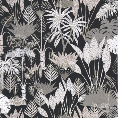 Papier peint Philippines Noir et beige - L'ODYSSEE - Caselio
