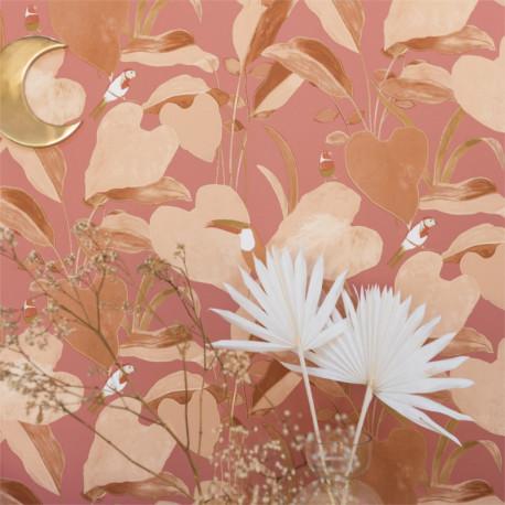 Papier peint Amazonia terracota et rose - L'ODYSSEE - Caselio