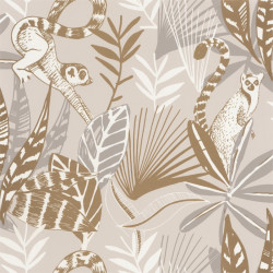 Papier peint Madagascar beige et doré - L'ODYSSEE - Caselio OYS101401010