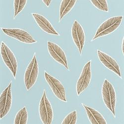 Papier peint Gabon bleu doux et doré - L'ODYSSEE - Caselio OYS101446000