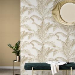Papier peint 406818 PALOMA palmes dorées - Rasch