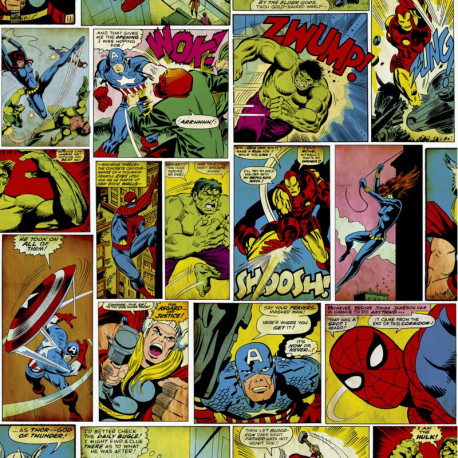 Papier peint MARVEL Avengers Comic Strip Multi - Comics - Ugepa