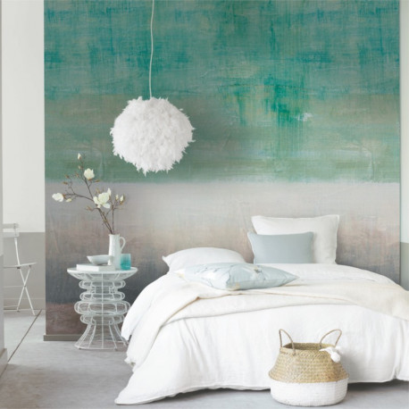 Panoramique PAINT WALL vert et gris - Beauty Full Image par Casadeco