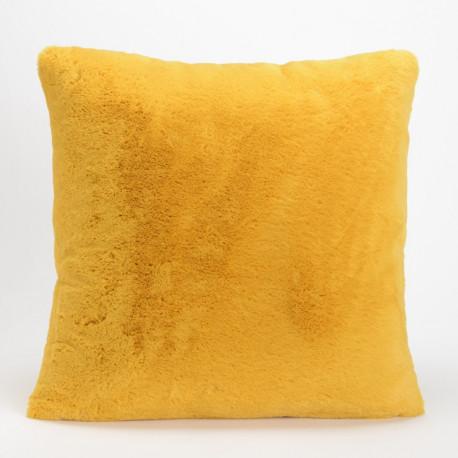 Coussin Luxe moutarde tout doux - 50x50cm - Amadeus