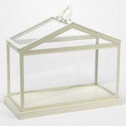 Photophore Maisonnette métal blanc - Amadeus