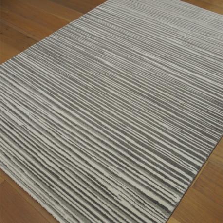 Tapis Lignes Scandi - taupe et beige - 160x230cm - ELLE - BALTA