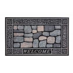 Paillasson caoutchouc recyclé extérieur RESIDENCE Stones Welcome - Hamat