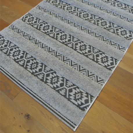 Tapis corde et shaggy Ethnique gris clair - 120x170cm - RITUAL