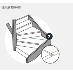 Languette de raccordement - Lot de 4 - pour escalier Maestro Steps