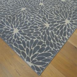Tapis à motif pétales de fleurs gris - 160x230cm - SHADE