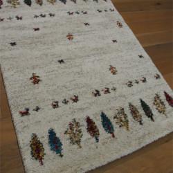Tapis shaggy à motif ethnique - losanges colorés - 140x200cm - SHERPA