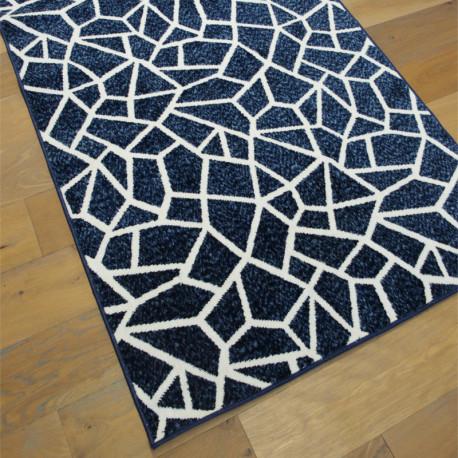 Tapis moderne Mosaïque bleu et écru - 120x170cm - Mix - BALTA