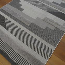 Tapis corde et shaggy Moderne gris clair et noir - 200x290cm - RITUAL