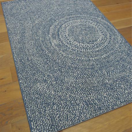 Tapis tissé en corde bleu et écru - 140x200cm - ESSENZA