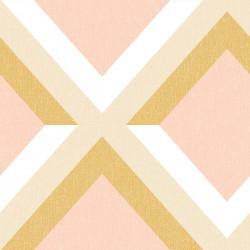 Papier peint Groove ocre rose blanc - MOOVE - Caselio MVE101342817