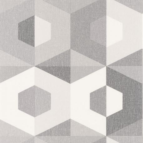 Papier peint Pop gris blanc - MOOVE - Caselio MVE101379102