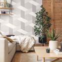 Papier peint Twist gris anthracite gris doux blanc - MOOVE - Caselio MVE101359215