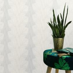 Papier peint Palmes BALI blanc beige - ERISMANN