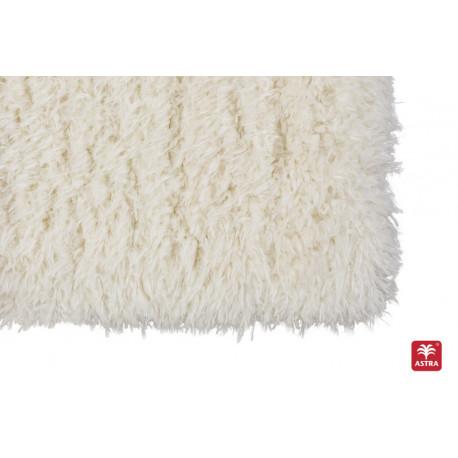 Tapis En Peau Tout Doux Aversa Blanc Crème 160x230cm