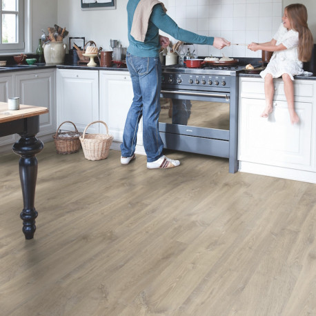 "Sol Stratifié ""Chêne louisiana beige monolame CR3175""- Creo QUICK STEP"