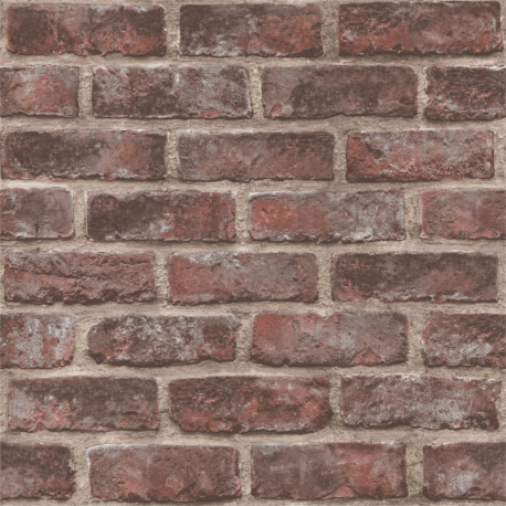 Papier peint Briques marron Quarry Brick - Original - GRANDECO Life