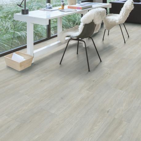 QUICK STEP - Lame PVC clipsable avec quatre chanfreins - Livyn Balance Click - chêne clair soyeux