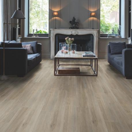 QUICK STEP - Lame PVC clipsable avec quatre chanfreins - Livyn Balance Click - chêne gris brun soyeux