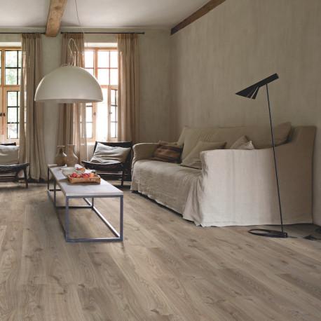 QUICK STEP - Lame PVC clipsable avec quatre chanfreins - Livyn Balance Click - chêne cottage gris brun