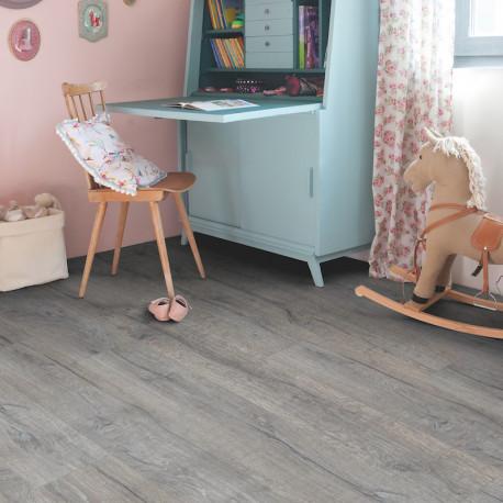 QUICK STEP - Lame PVC clipsable avec quatre chanfreins - Livyn Balance Click - chêne heritage gris