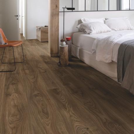 QUICK STEP - Lame PVC clipsable avec quatre chanfreins - Livyn Balance Click - chêne cottage brun foncé