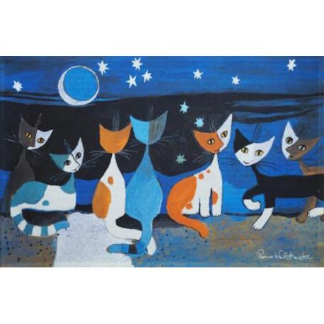 Tapis de propreté - paillasson chats gatti nella notte- EFIA