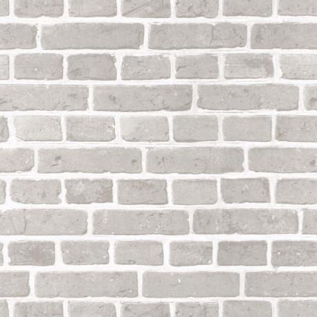 Papier peint briques blanches - Au bistrot d'Alice - Caselio