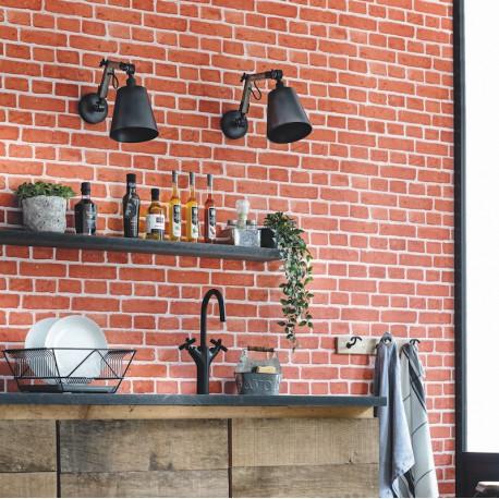 Papier peint briques rouges - Au bistrot d'Alice - Caselio