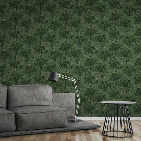 Papier peint Jungle forest bleu vert 364801 - Greenery - AS CREATION