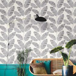 Papier peint Banana Tree Noir Blanc -MOONLIGHT- Caselio MLG101099007