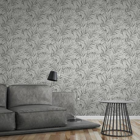 Papier peint Floral léger beige gris taupe 373352- Greenery - AS CREATION