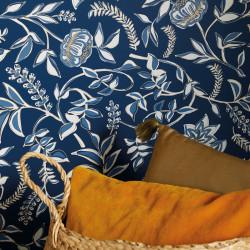 Papier peint Honour bleu indigo doré -MYSTERY- Caselio MYY101586913